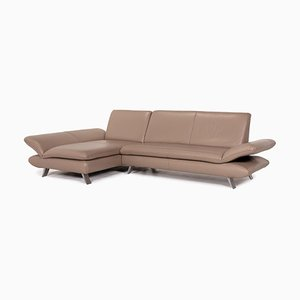 Beige Grey Leather Rossini Corner Sofa from Koinor
