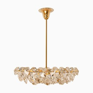 Crystal Glass & Brass Chandelier by Palwa for Bakalowits & Söhne, Austria, 1960s