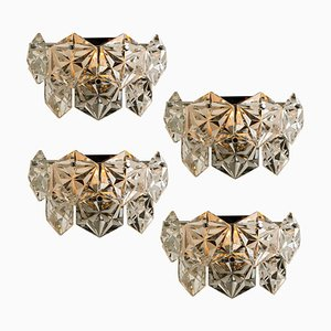 Faceted Crystal and Chrome Sconce by Kinkeldey, Germany, 1960s
