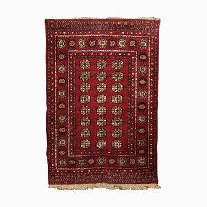 Alfombra Bukhara de lana y algodón, años 90