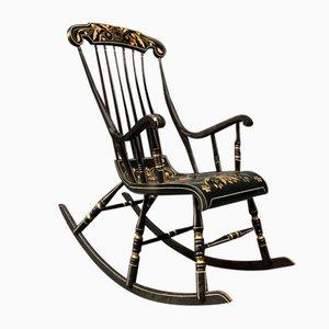 Sedia a dondolo verniciata, Svezia, fine XIX secolo