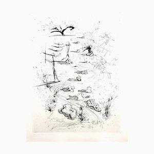 Aguafuerte The Trinches de Salvador Dali, 1967