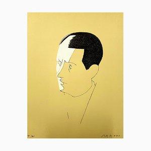 Malraux Lithografie von Eduardo Arroyo, 1984
