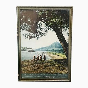 Vintage German Rhineland Touristic Poster, 1970s