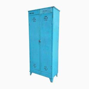 Industrial Blue Locker Wardrobe, 1960s