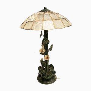 Vintage Italian Tole Table Lamp, 1970s