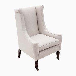 19th Century Victorian Mahogany Wingback Armchair