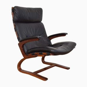Mid-Century Norwegian Lounge Chair by Elsa & Nordahl Solheim for Rybo Rykken & Co, 1970s