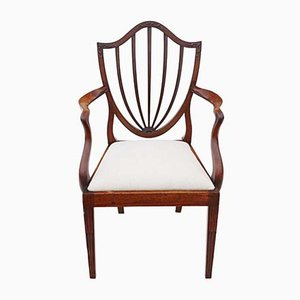 19th Century Georgian Mahogany Shield Back Dining Chairs, Set of 8