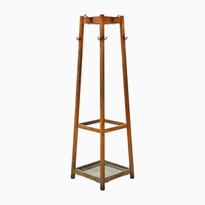 Vintage Hall Coat Rack and Umbrella Stand, 1930s