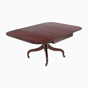 Regency Cuban Mahogany Drop Leaf Dining Table, 1820s