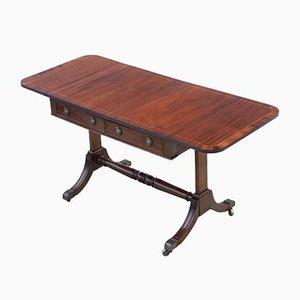Late 19th Century Inlaid Mahogany Folding Sofa Table