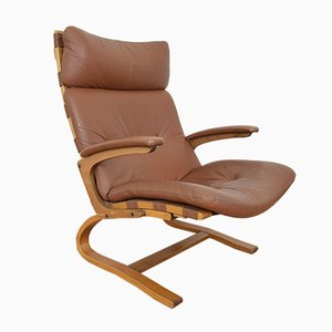 Mid-Century Norwegian Lounge Chair by Elsa & Nordahl Solheim for Rybo Rykken & Co., 1970s