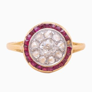 Antique Ruby, Diamond, and Gold Ring