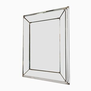 Vintage Mirror in the Style of Jacques Adnet, 1940s