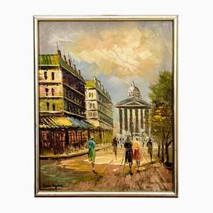 French Walk around Paris Painting, 1940s