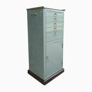 Mueble de hospital vintage en verde de Baisch, años 60