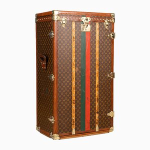 Antique French Cube Monogrammed Lily Pons Trunk from Louis Vuitton, 1940s