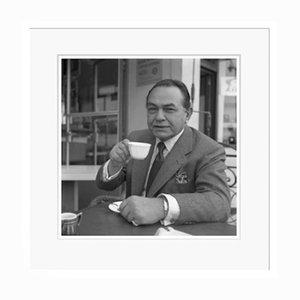 Edward G Robinson Gangster Coffee in White Frame von Galerie Prints