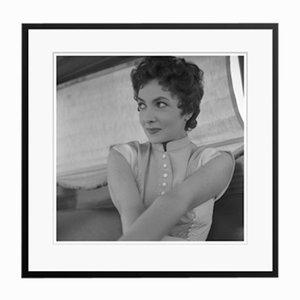 Gina Lollobrigida in Black Frame from Galerie Prints