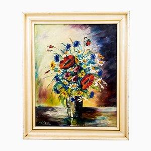 Pintura floral, años 40