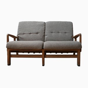 Mid-Century French Sofa by Guillerme et Chambron, 1960s