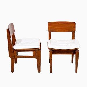 Chaises de Salon Mid-Century par Vito Sangirardi, Italie, Set de 6