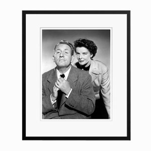 Katharine Hepburn Spencer & Katharine in Black Frame by Everett Collection
