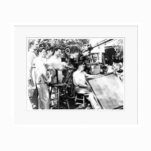 Katharine Hepburn Hepburn & Director George Cukor on Set in White Frame by Everett Collection