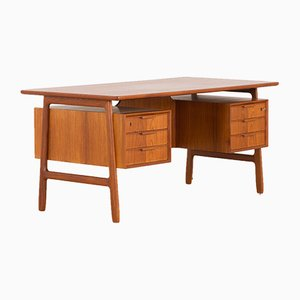Teak Executive Desk from Omann Jun, 1960s