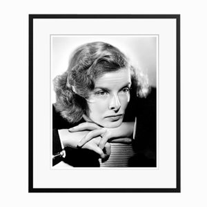 Katharine Hepburn Thoughtful Katherine in Black Frame by Everett Collection