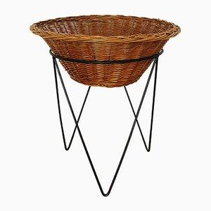 Vintage Iron Basket, 1950s