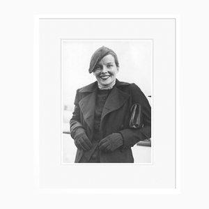 Katharine Hepburn An Bord des SS Paris in Weiß von Everett Collection