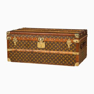 Antique French Monogrammed Cabin Trunk from Louis Vuitton, 1920s