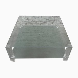 Vintage Glass Coffee Table, 1970s