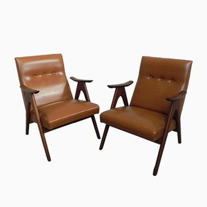 Armchairs by Louis van Teeffelen for WéBé, 1960s, Set of 2