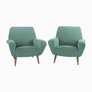 Model 830 Lounge Chairs by Gianfranco Frattini for Cassina, 1950s, Set of 2