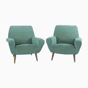 Modell 830 Sessel von Gianfranco Frattini für Cassina, 1950er, 2er Set