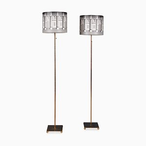 Italian Floor Lamps by Atelier Fornasetti for Fornasetti, Set of 2
