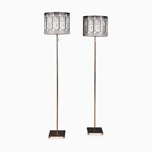 Lámparas de pie italianas de Atelier Fornasetti para Fornasetti. Juego de 2