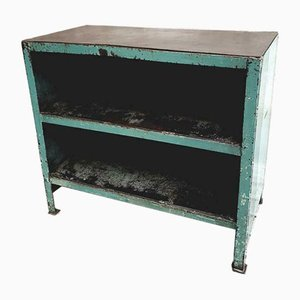 Industrial Sea Green Steel Chest of Drawers, 1960s