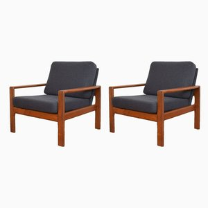 Mid-Century Danish Teak Armchairs, 1970s, Set of 2