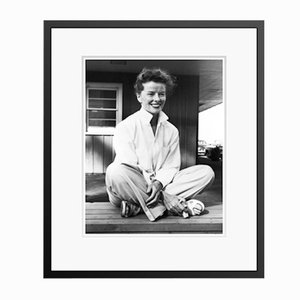 Cheerful Katharine Archival Pigment Print Framed in Black by Everett Collection