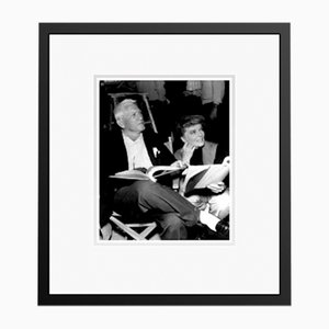 Spencer Tracy & Katharine Hepburn Script Reading Archival Pigment Print Framed in Black by Everett Collection