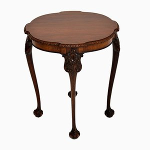Antique Chippendale Style Carved Mahogany Side Table