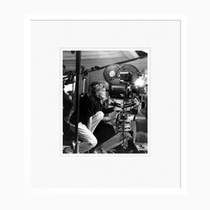 Katharine Hepburn on Set Archival Pigment Print Framed in White by Everett Collection