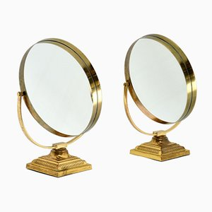 Vintage Brass Vanity Mirrors from Durlston Designs, 1960s, Set of 2