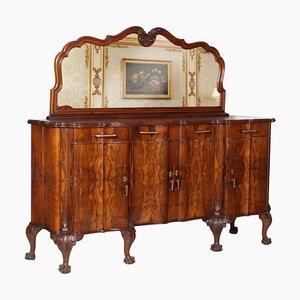 Antique Baroque Style Mirrored Chippendale Sideboard from Testolini & Salviati