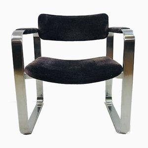 Silberner Armlehnstuhl von Eero Aarnio für Mobel Italia, 1970er