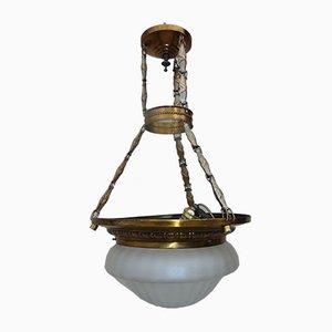 Antike Messing Deckenlampe